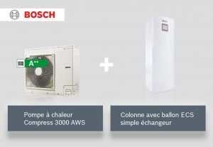 PAC + ballon ECS simple échangeur