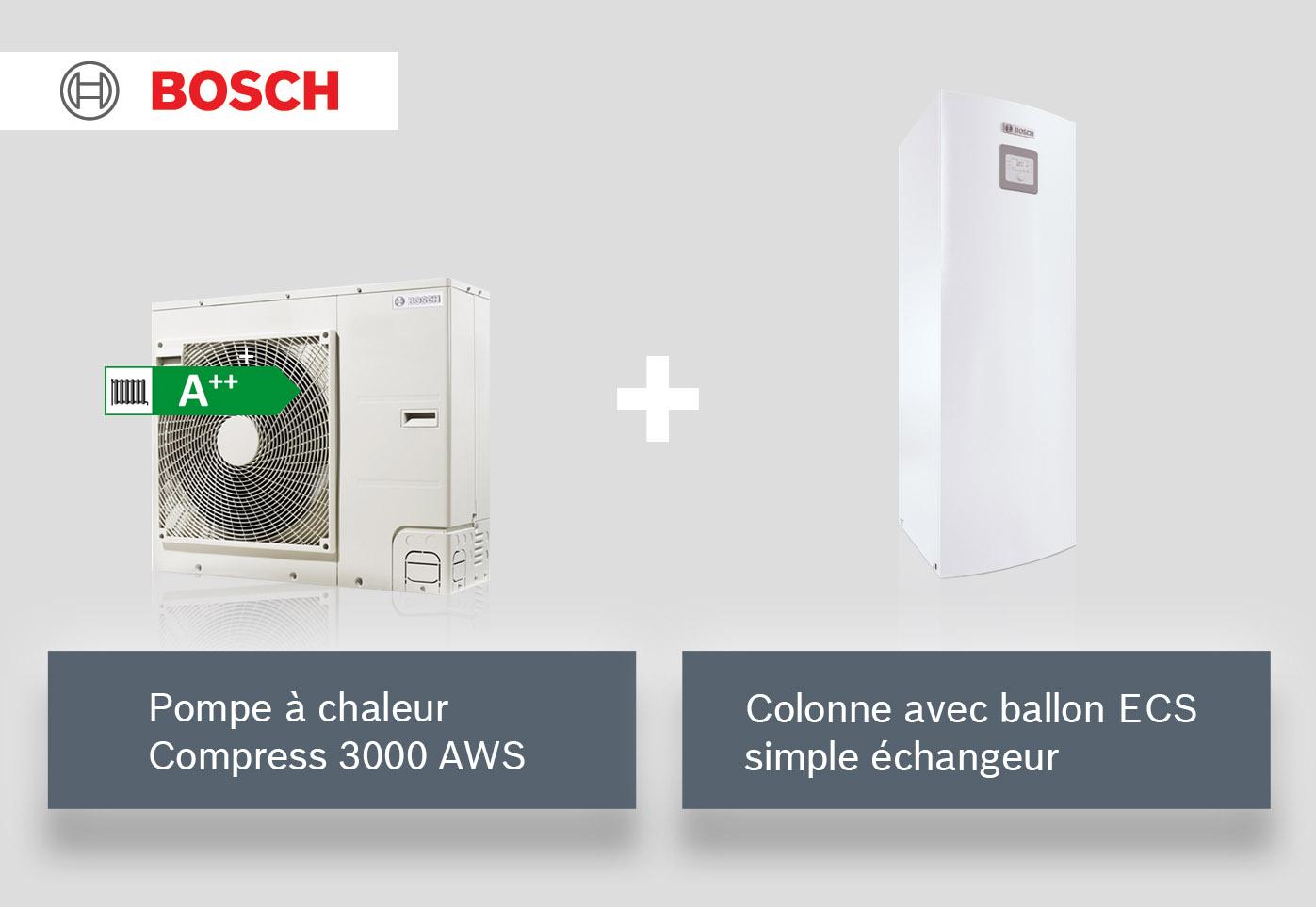 PAC + ballon ECS simple échangeur