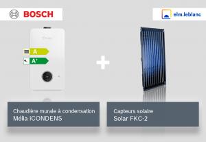 Mélia iCONDENS + capteurs solaire FKC-2